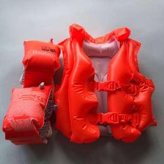 Swimming jacket/arm floats set