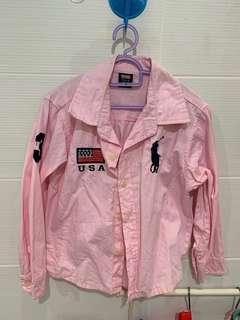 Polo Ralph Lauren pink long sleeve for boy (100% cotton)