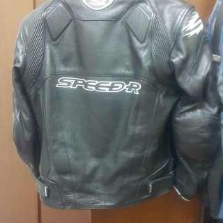 speed r,台製真皮防摔衣,內裡,護具可拆size:46