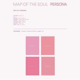 BTS 防彈少年團新專輯 BTS MAP OF THE SOUL : PERSONA 一套四張或單張購買