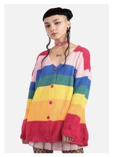 🚚 BORING Rainbow Knit Cardigan
