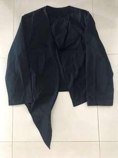 🚚 Bn The Box Navy Black Asymmetrical Jacket Cardigan