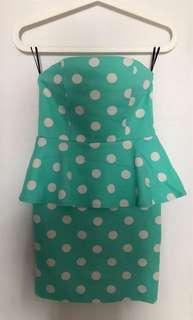 Pre Loved Cute dress in Tiffany Green