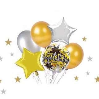 Congratulations Balloons Set (6pcs)