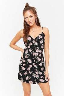 Floral cami black dress forever 21