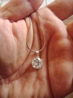 🚚 純銀鑽項鍊