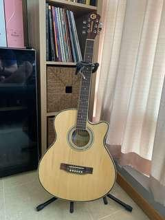 🚚 Cristofori Acoustic Guitar For Sale (includes Guitar Stand, Capo and Bag)