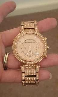 Make an Offer Michael Kors Ritzy Rose Gold Watch