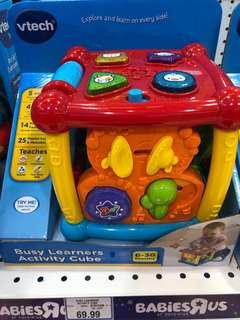 Vtech busy learners activity cube educational music 🎶 fun toy shape animal