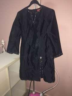 🚚 Thai silk kurung with batik wrap skirt