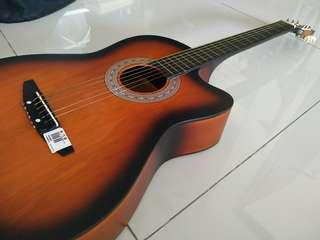 Guitar with steel strings