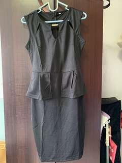Black sexy OL dress