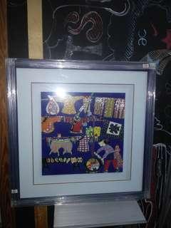 瓷画多副。半价出售。近代Art。