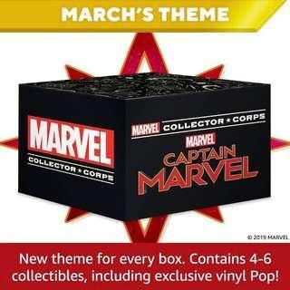 🚚 Funko Pop Captain Marvel MCC Collector Corps Exclusive Vinyl Figure Collectible Toy Gift Movie Avengers Carol Danvers