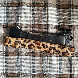 (自己定價) 豹紋相機帶
