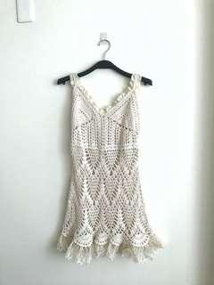 鉤針背心洋裝