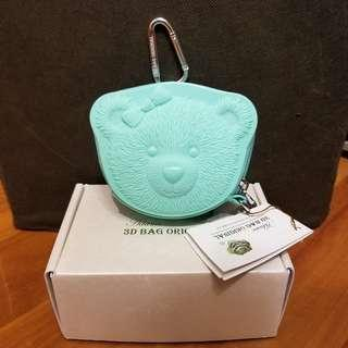 Adamo 3D Ribbon Bear Coin Purse