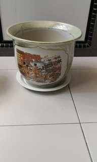Flower pot and plate