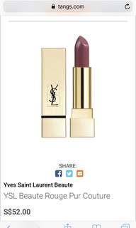 BNIB Ysl gold attraction rouge pur couture in rose stiletto