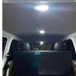 Toyota Hiace Rides on 12V 5050 SMD cabin/map lights. Self install and Self Collection