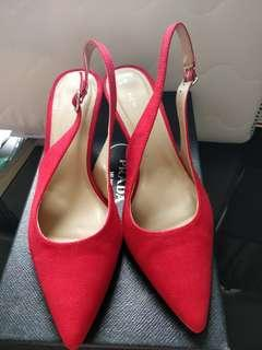 New Look low heel sling back shoes