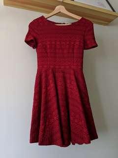 VGY Red Skater Dress