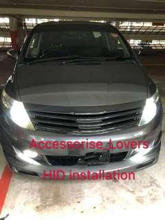 🚚 Hid installation on Honda Airwave .     installation Suitable for Nissan Toyota Vios Altis Camry Volkswagen scirocco Jetta Golf Passat Mercedes c200 c180 Honda Civic Crossroad mazda 3