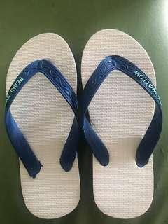sandal swallow wanita putih biru sandal jepit pearl swallow