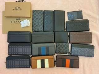 (18/03/19) coach men ready stock wallet clutch purse