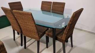 Dining Table - tempered glass