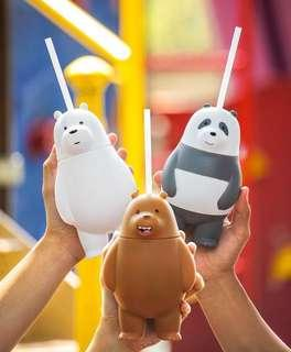 🚚 We Bare Bears Cup / Tumbler / Bottles with Straw