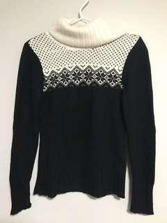Suzy Shier sweater in black (and white pattern)