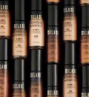 Instock Milani 2 in 1 Conceal + Perfect Foundation + Concealer