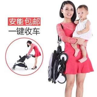 Foldable folding stroller