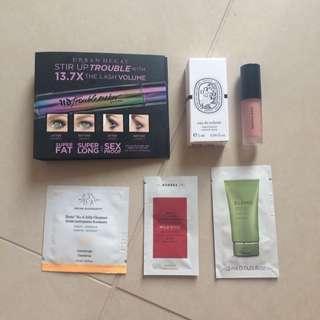 Assorted Makeup, Perfume & Skincare Samples