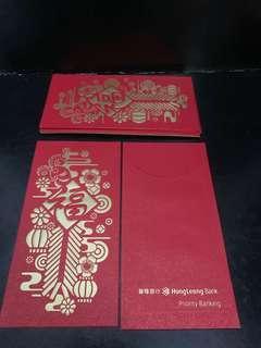 Hong Leong Bank Red Packets Angpau 8pcs