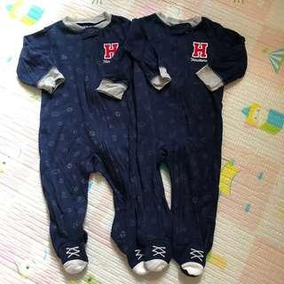 Carter's 9m bodysuit Twins 孖仔