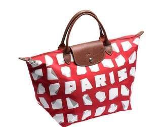 a04f4df317e82 Longchamp Le Pliage Tote Bag L Paris Edition (w  cleaning liquid)