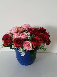 Rose And Carnations