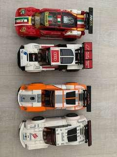 4 LEGO sports cars