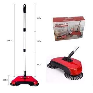 Hand push magic broom sweeper
