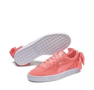 PUMA Women suede bow sneakers- coral pink