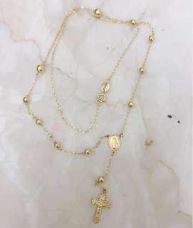 18K Yellow Gold Rosary Chain