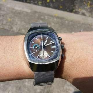 中古亞米茄電視機自動 chronograph, seamaster, semi tropical dial, 超大裝
