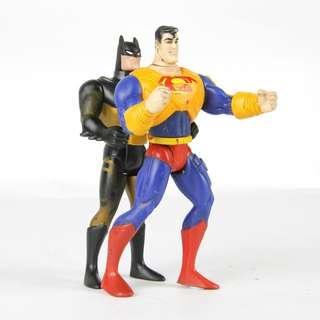 🚚 【GGM】美式老玩具懷舊系列 SUPERMAN x BATMAN DC漫畫 超人蝙蝠俠復古可動玩偶公仔
