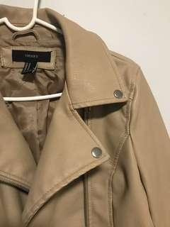 Forever 21 faux leather jacket in beige