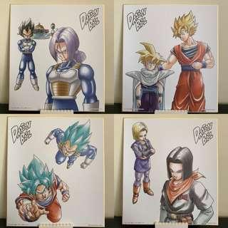 Banpresto Dragon Ball Super ichiban kuji VS EXISTENCE Glass plate 5Set JAPAN NEW