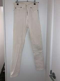 dr denim white jeans