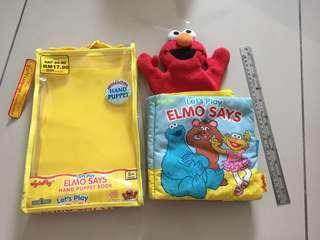 Lets Play Elmo Say Hand Puppet book