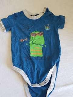 Blue baby romper/onesie